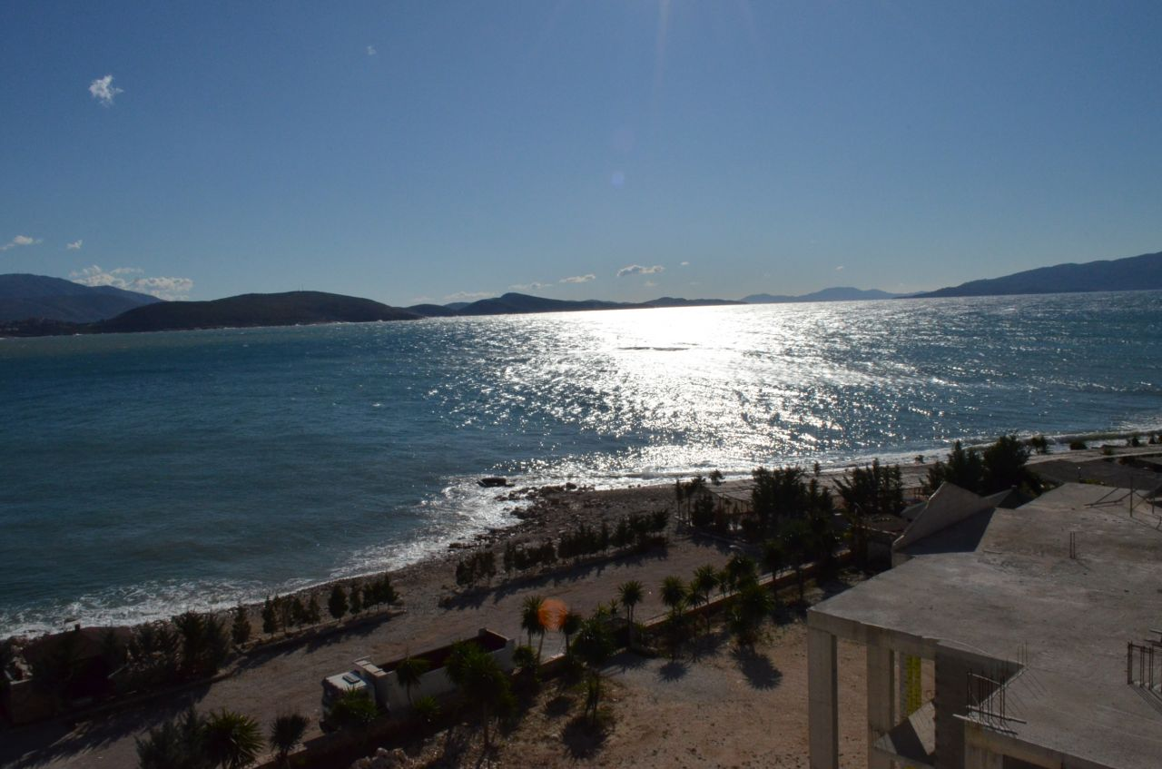 Finished Property for sale in Saranda, southern Albania. Close to the beach. Apartment with good sea view. Located in a quiet area next to Ionian sea.