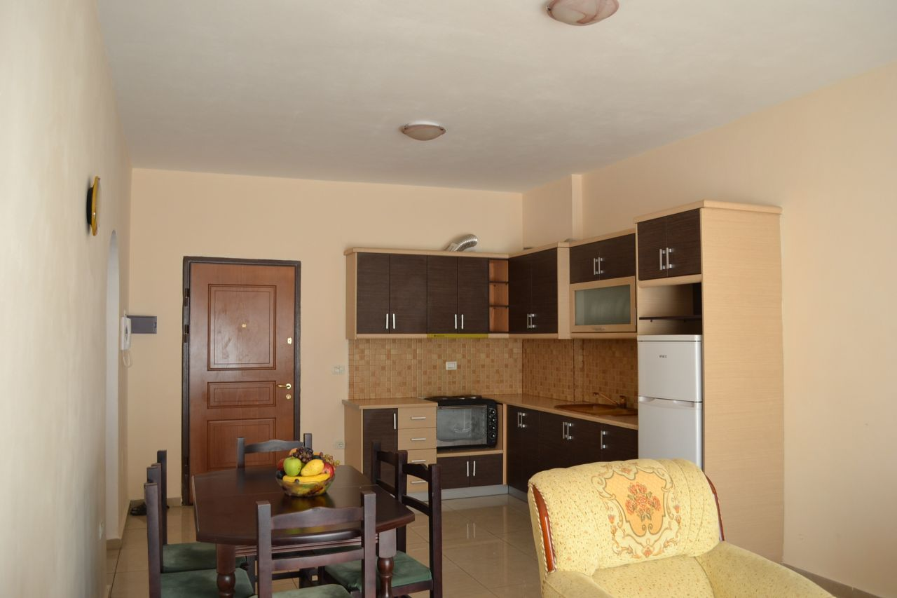 2 bedroom apartment for vacation for rent in saranda albania, it is fully furnished and suitable for families