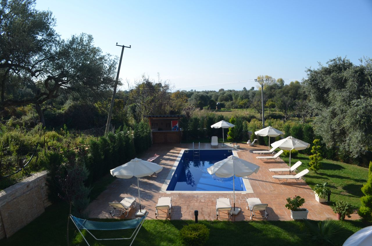 Rent Holiday Villa with Pool in Albania Riviera. Apartments in Borsh for Rent