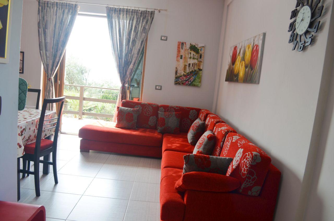 Appartamento in affitto con due camere a Dhermi,Valona