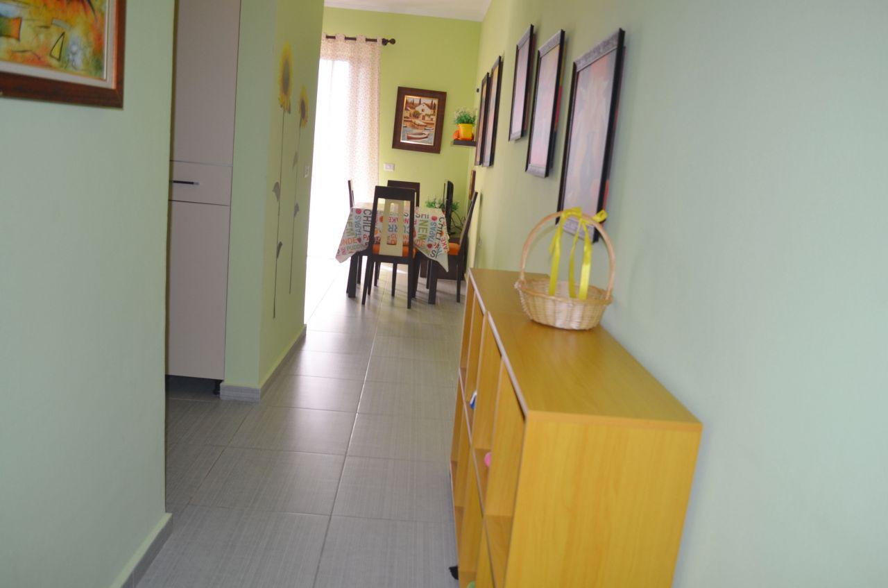 Apartament pushimi me qera ne Dhermi,Vlore