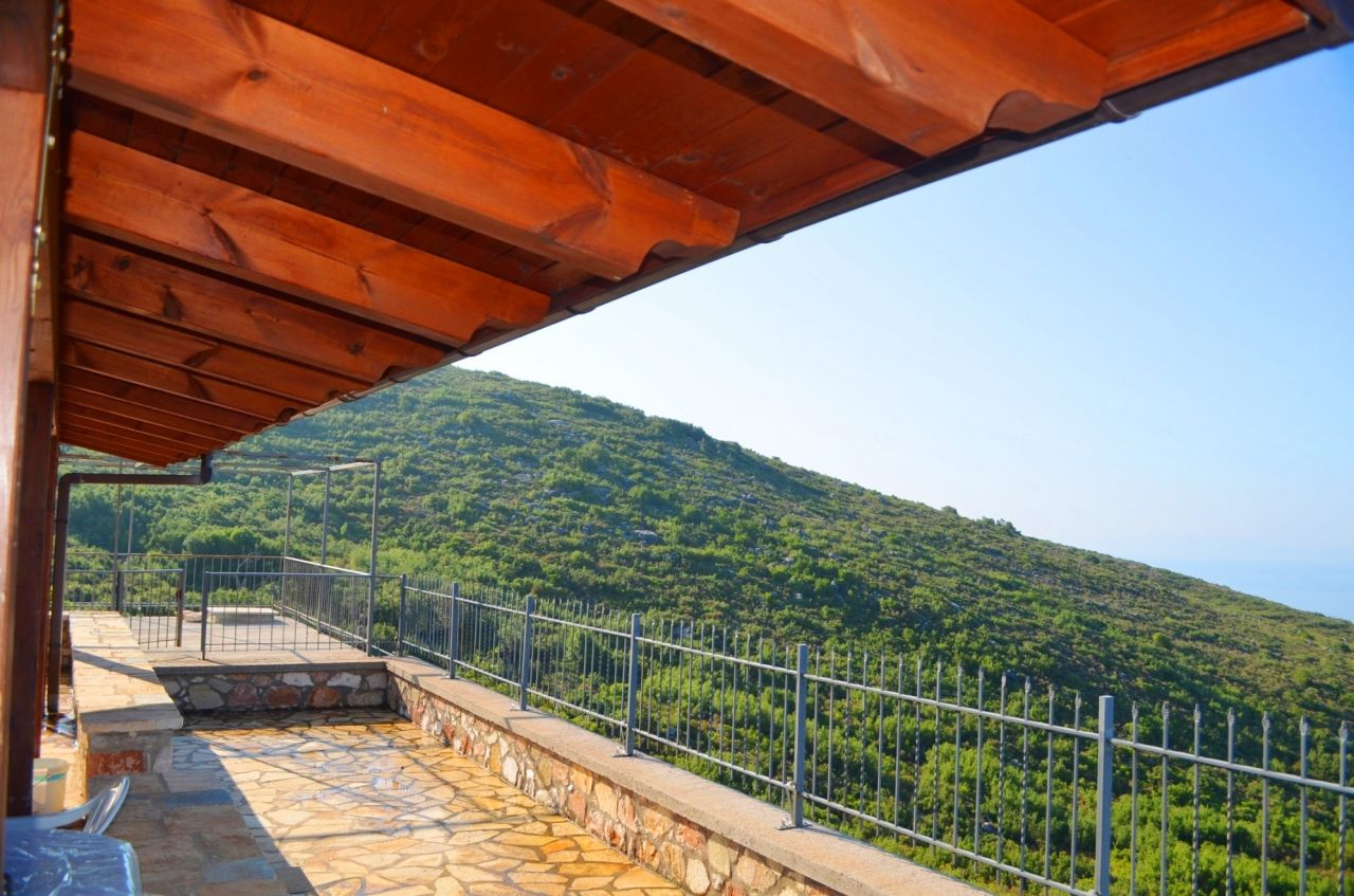 House with land for sale in Dhermi, Albania, close to the sea.