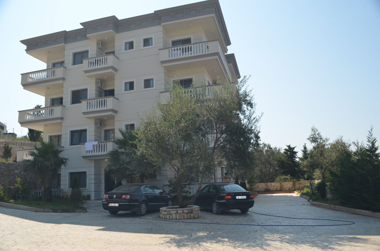 Apartment for sale in Dhermi, south of Albania, with sea view