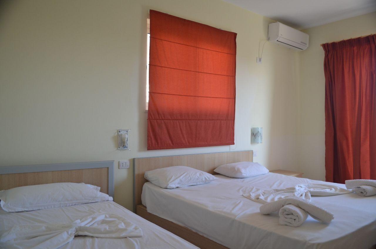 Holiday in Albania, Hotel near Ionian sea.