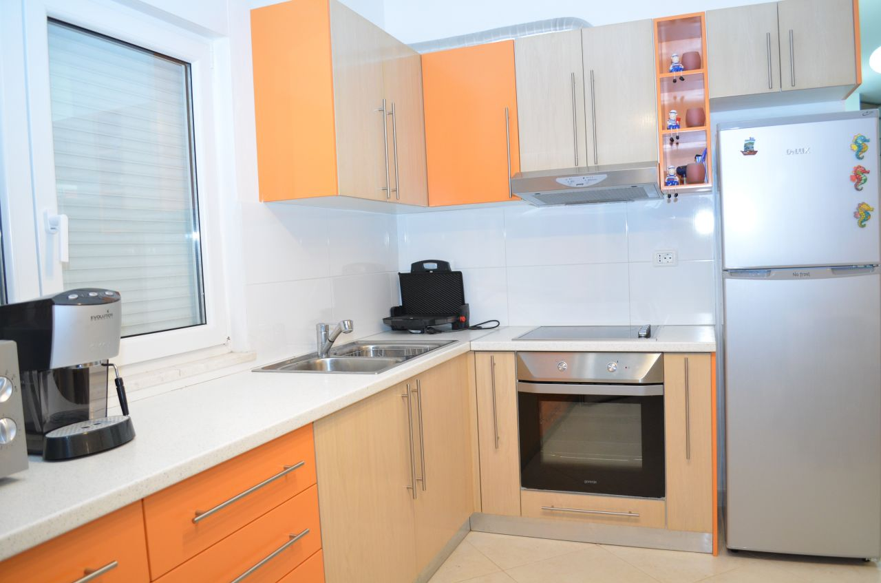 Holiday apartment for Rent in Lalzy Bay, in Durres, in the seashore of the Adriatic Sea. The apartment is suitable for 6 people. It is very close to the sea and the capital city, Tirana.