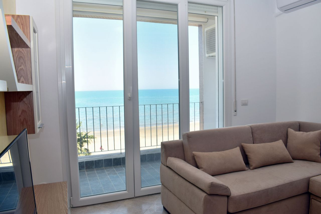 Holiday Sea view  Apartment For Rent  in Durres Beach