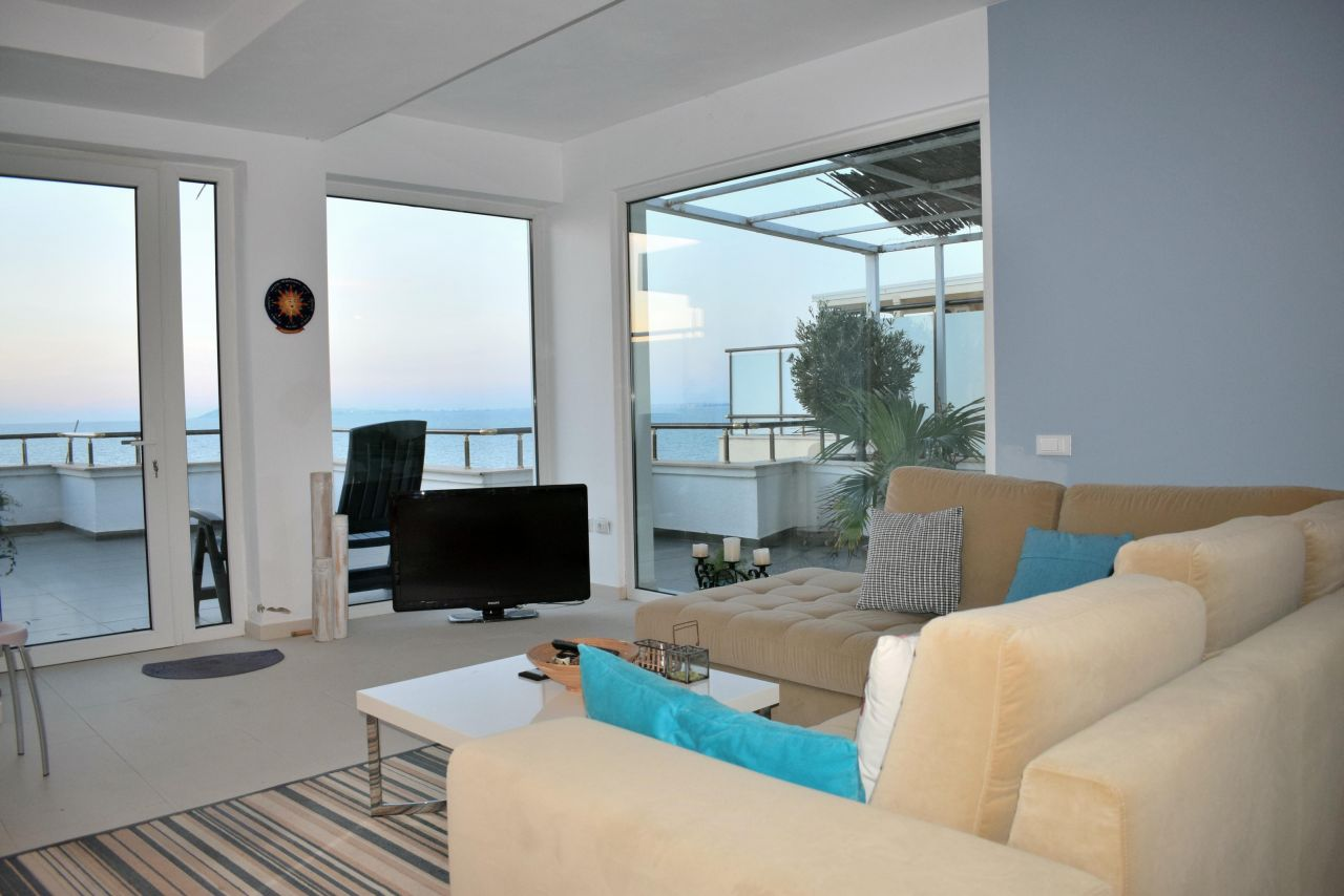 Beachfront Penthouse for Sale in Durres. Apartments for sale in Albania