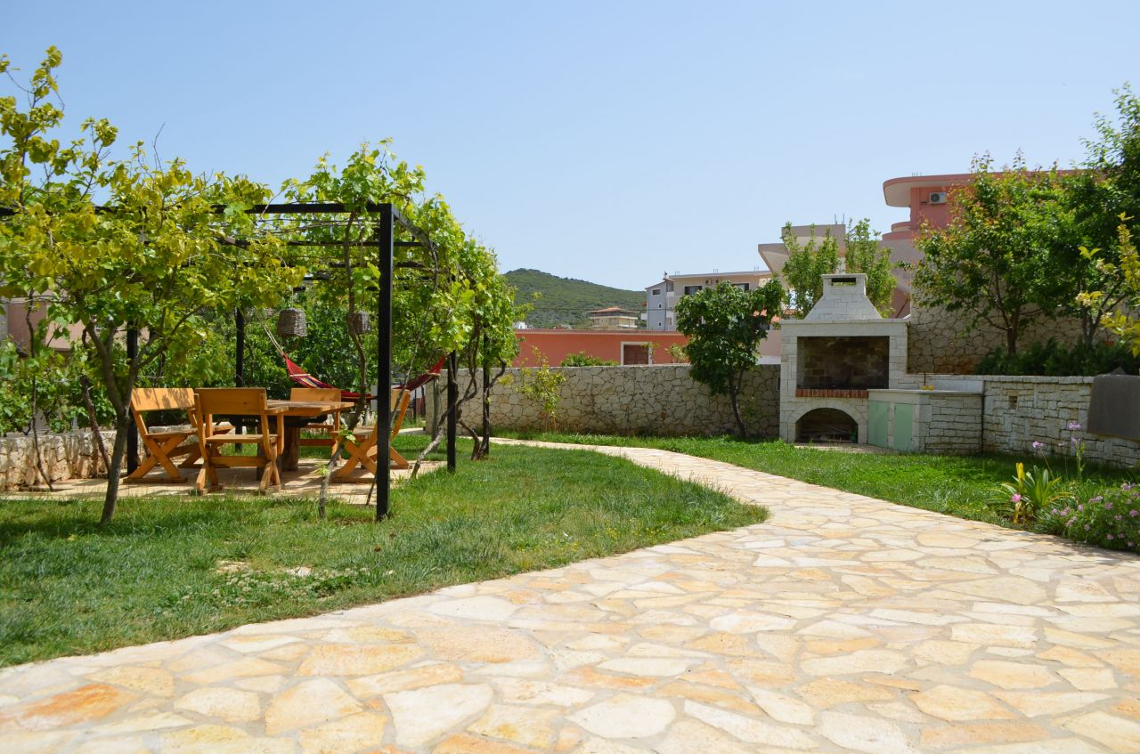 holiday apartments in Ksamil for Rent  with a beautiful garden, near the Ionian sea and the famous site of Butrinti.