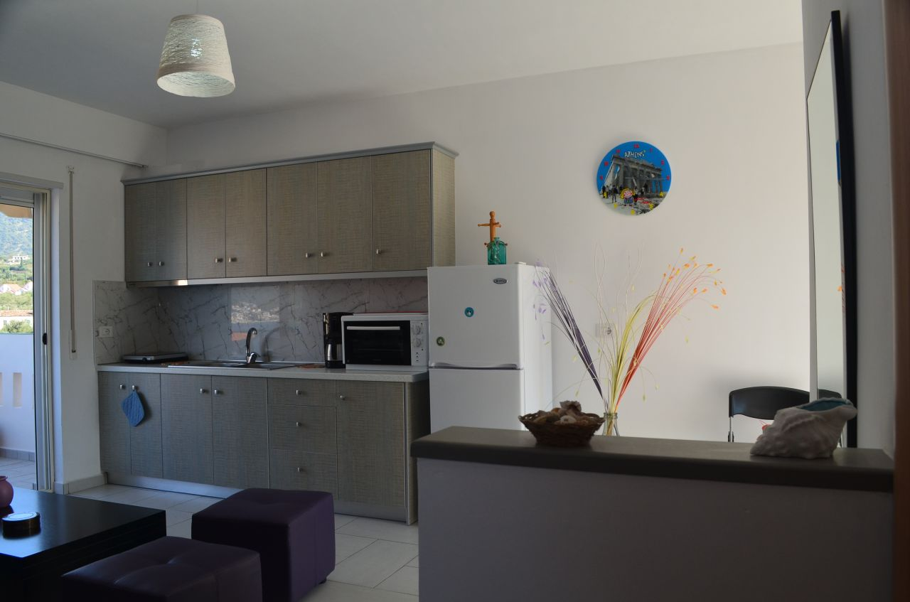vacation apartments for rent in himara albanian riviera. apartments in himara just next to the beach