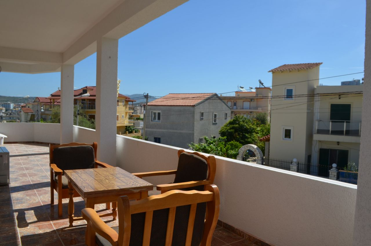 A THREE BEDROOMS ALBANIA HOLIDAY APARTMENT FOR RENT IN KSAMIL.