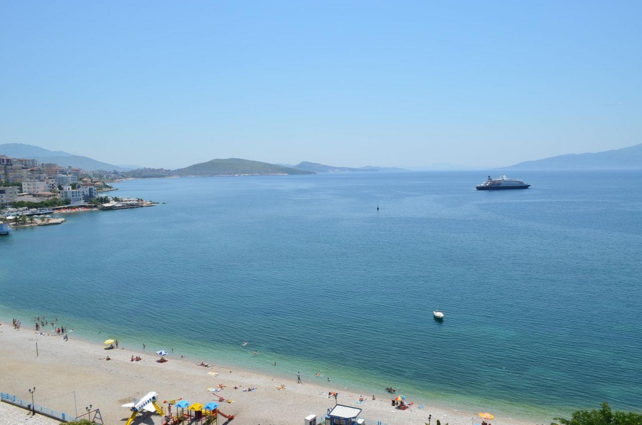 Apartament me qira ne Sarande. Apartamente pushime ne Shqiperi me pamje te bukur deti.