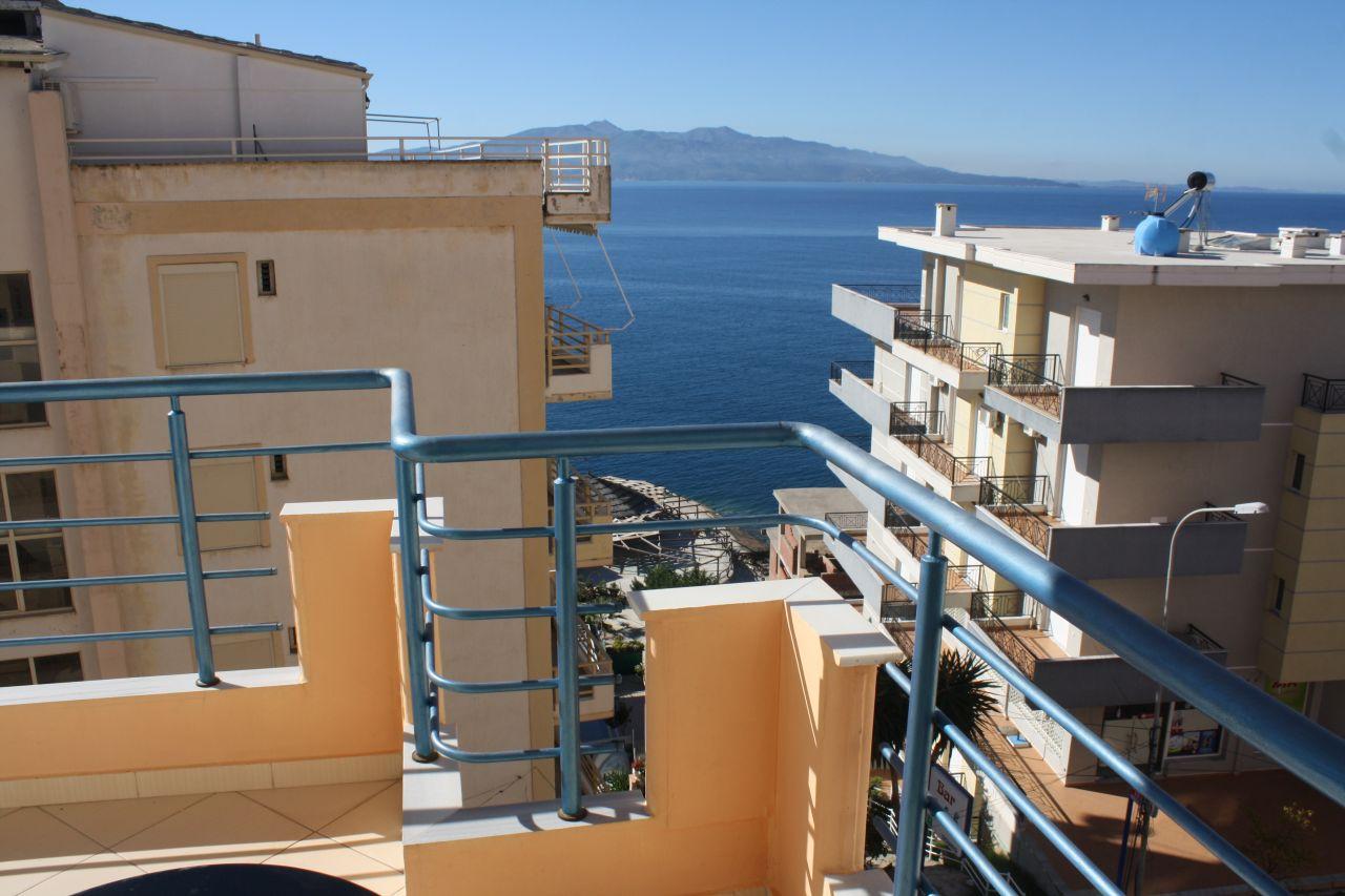 Studio for rent in Saranda. Sea view apartment for rent in Albania
