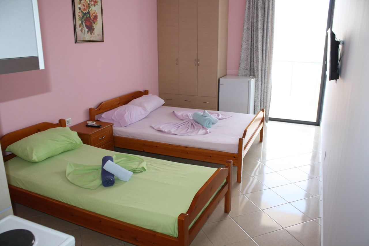 Studio for rent in Saranda. Sea view apartment for rent in Albania