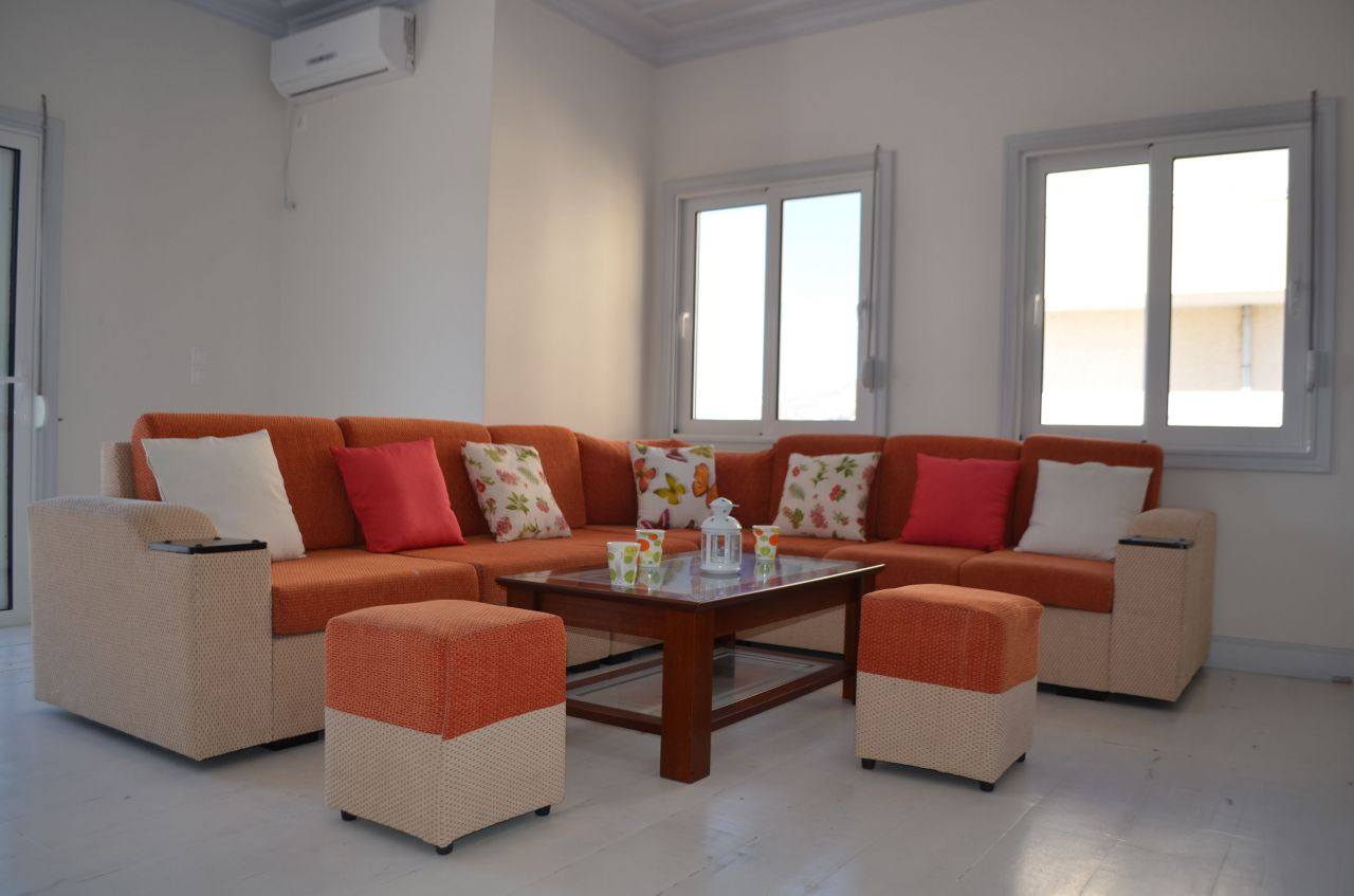 WONDERFUL PENTHOUSE FOR RENT IN SARANDA. VACATION APARTMENTS IN ALBANIA