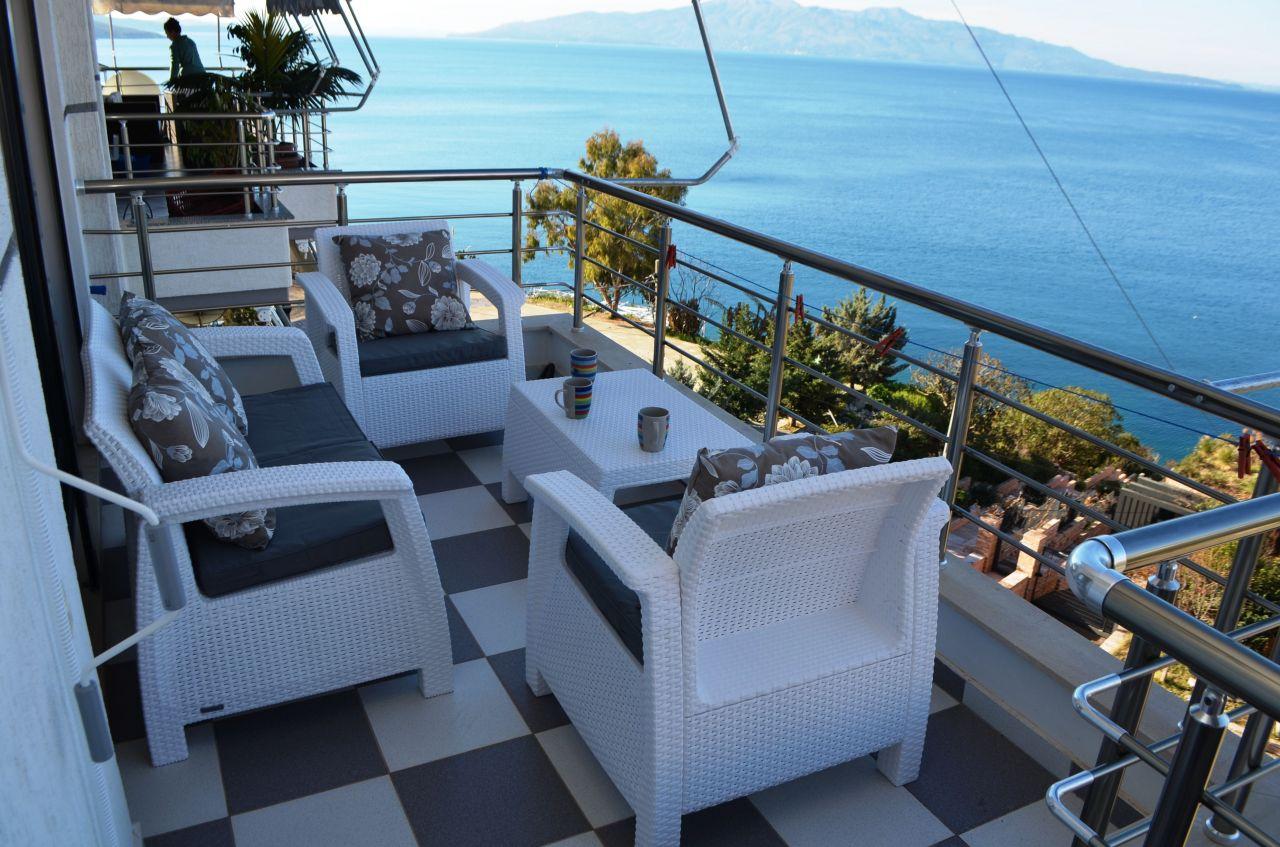 albania cazze vacanze a Saranda in affito con vista mare