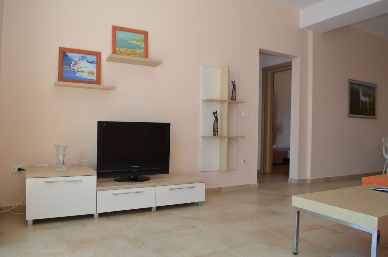 Two bedroom apartment for holiday Rent in Saranda, in front of the beach