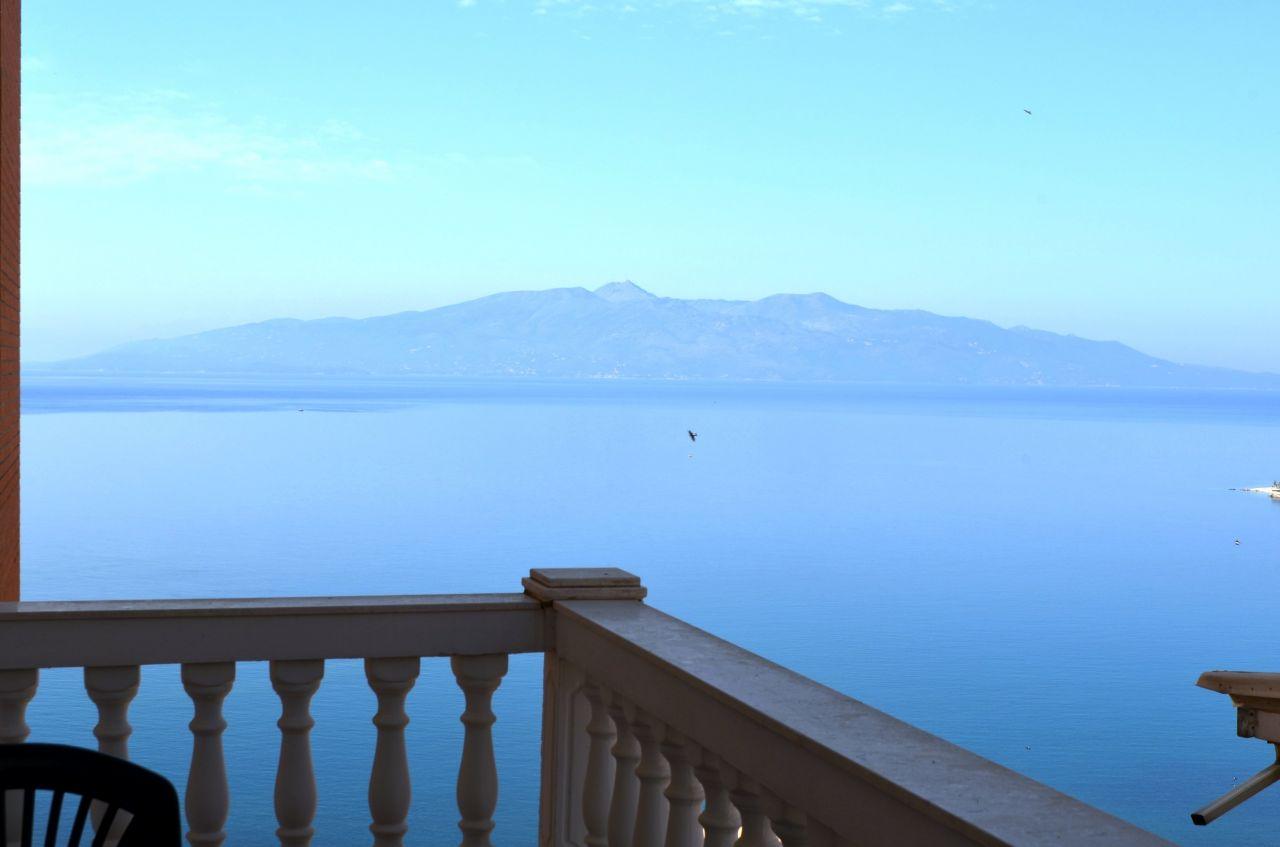 appartamenti in affitto a saranda. appartamento con vista mare in albania sud
