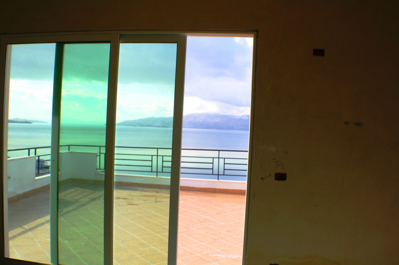 Albania Real Estate in Saranda. Penthouse Apartment in Sarande