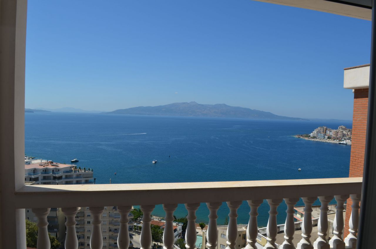Apartment with beautiful view of the sea for sale in Saranda, Albania