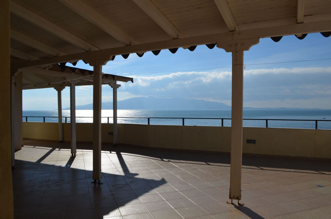 PENTHOUSE FOR SALE IN ALBANIA. VACATION HOUSE FOR SALE WITH A BEAUTIFUL SEA VIEW IN SARANDA, ALBANIA.