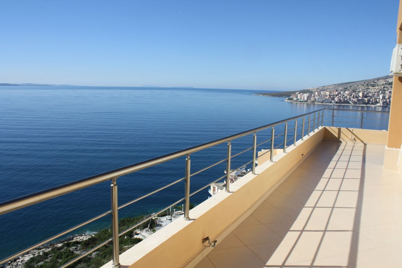 Penthouse Apartment in Saranda for Sale fully furnished with everything inside and wonderful sea view over the bay of saranda
