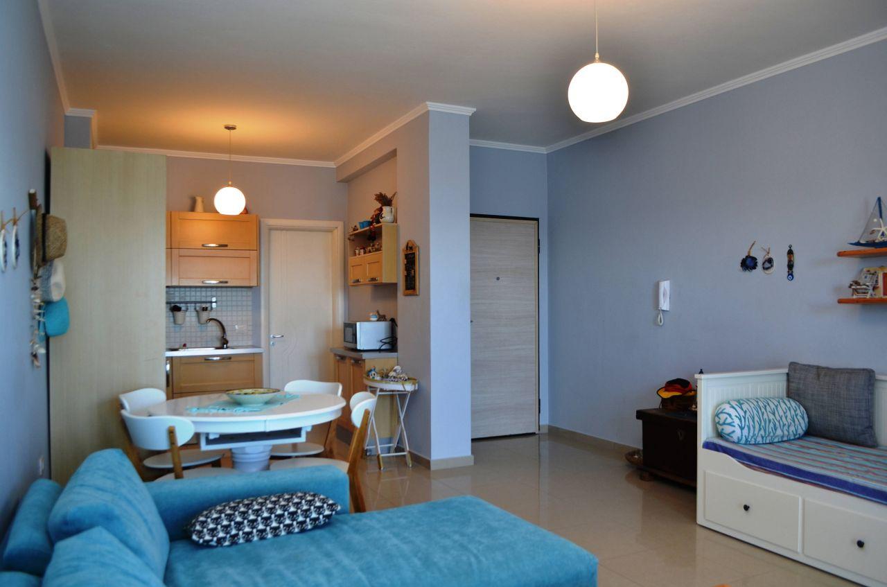 Apartament per shitje ne Sarande. Apartament me nje dhome gjumi per shitje ne Shqiperi
