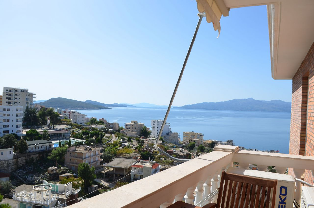 Sea view Apartment for sale in Albania. One bedroom apartment for sale in Saranda.