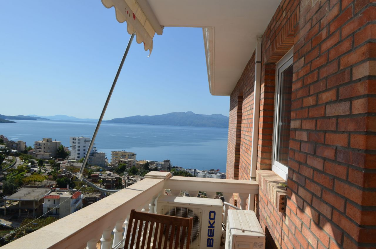saranda real estate with great sea view one bedroom, fully furnished