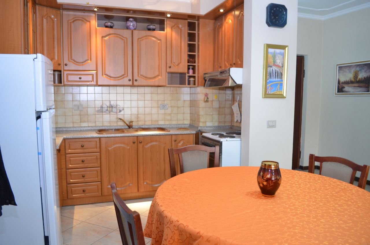 Apartment for rent in Tirana, it is all furnished and located in the Bllok area.