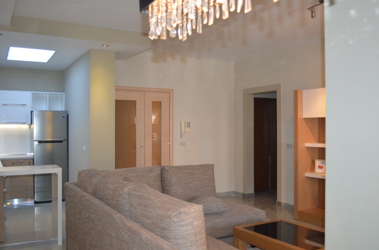 Apartment for rent in Tirana, it has two bedrooms and it is fully furnished.