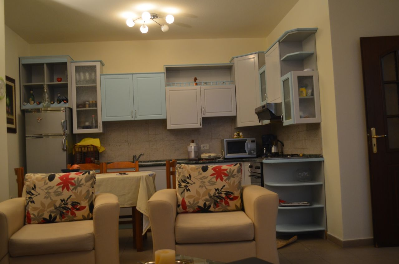 Apartment for rent in Tirana, with two bedrooms.