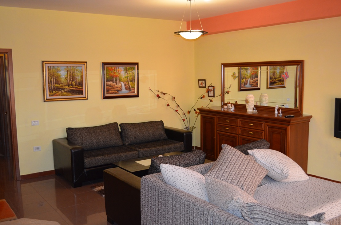 Apartment for rent in the capital of Albania, Tirana. The apartment has two bedrooms and is nicely located.