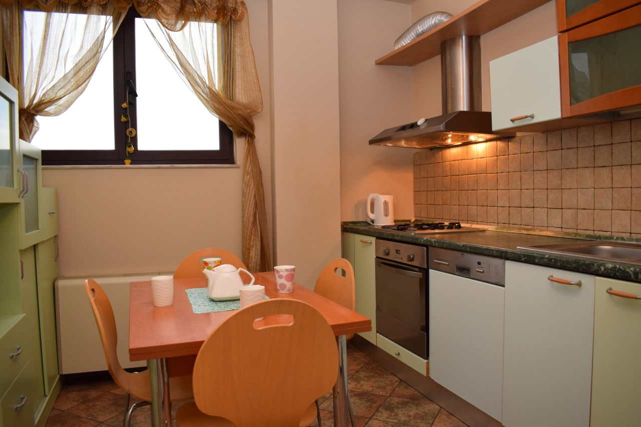 A two bedroom apartment for rent near Kavaja street in Tirana, the capital of Albania.