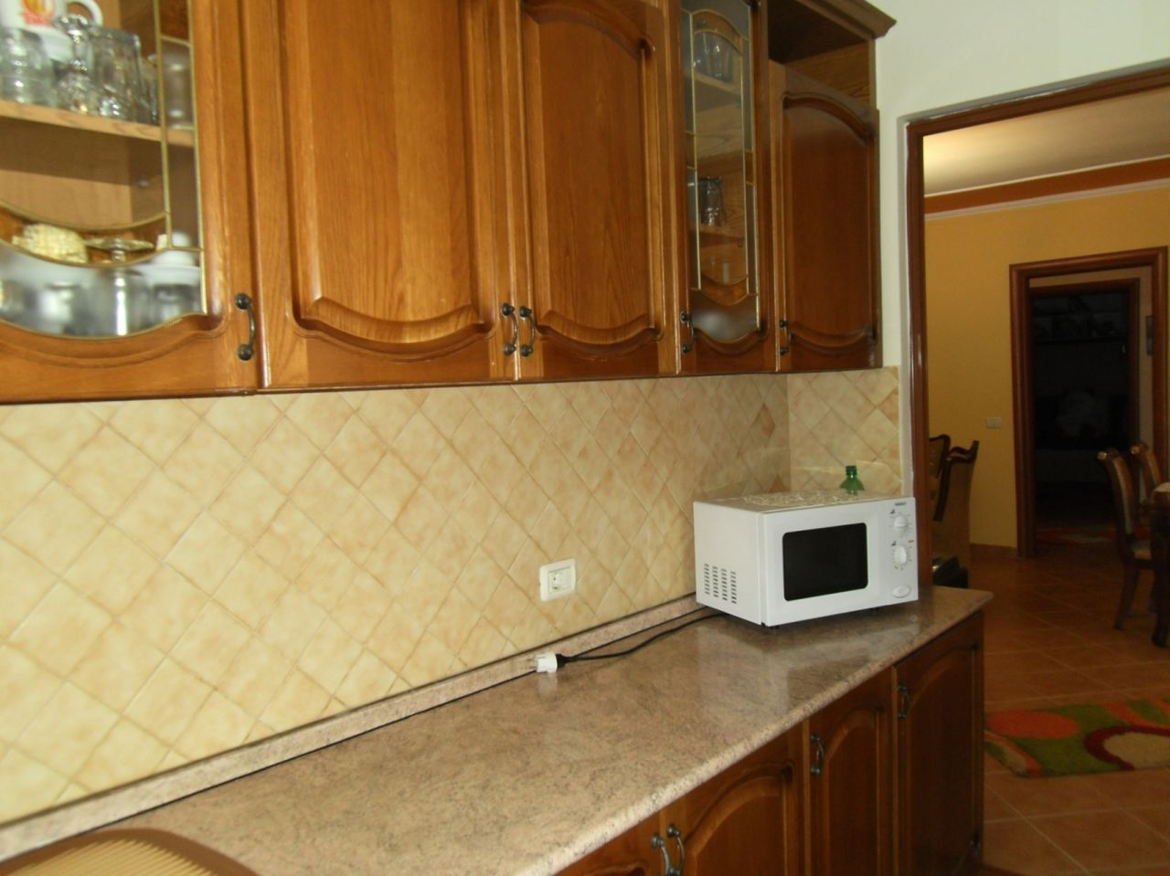 Fully furnished apartment with two bedrooms for rent in Tirana city.
