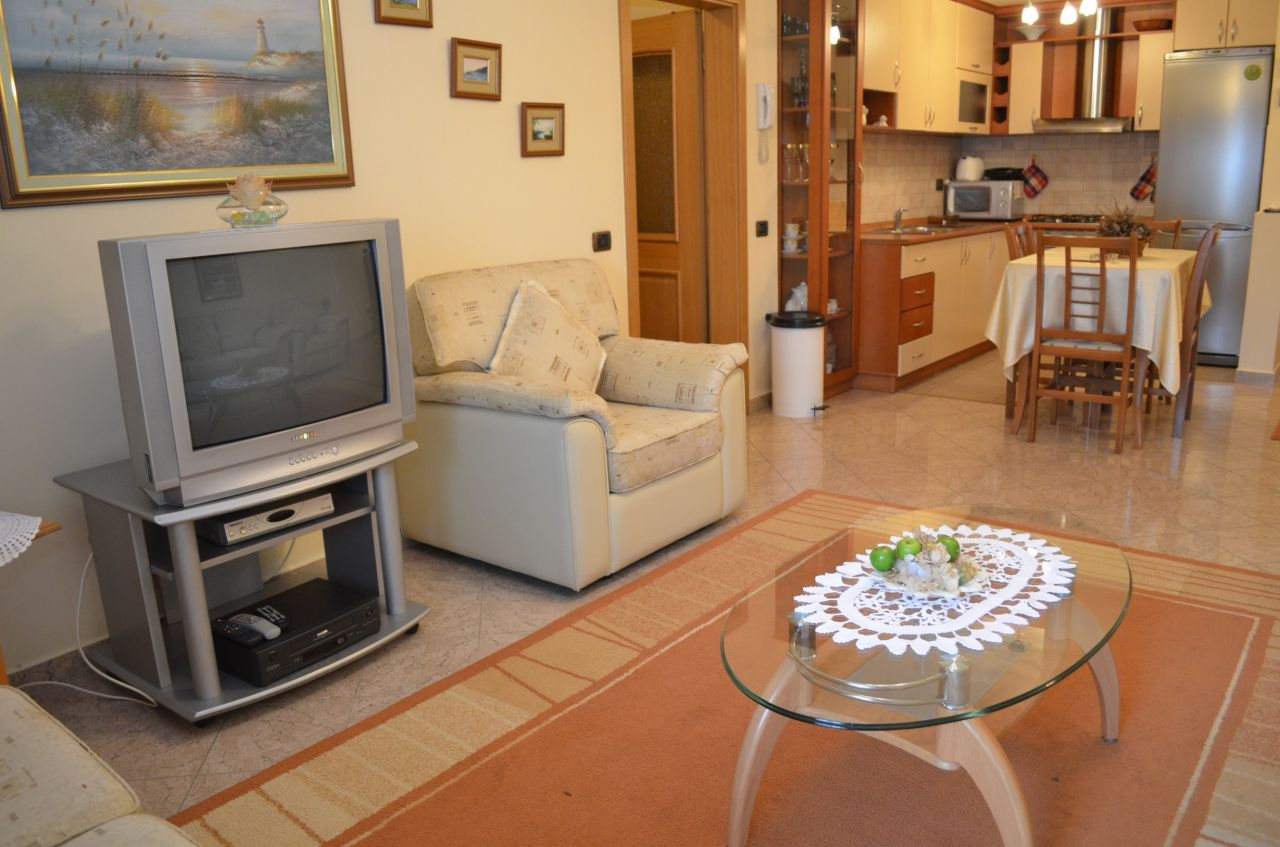 Two bedroom apartment for rent in blloku area in Tirana Albania.  Very good conditions