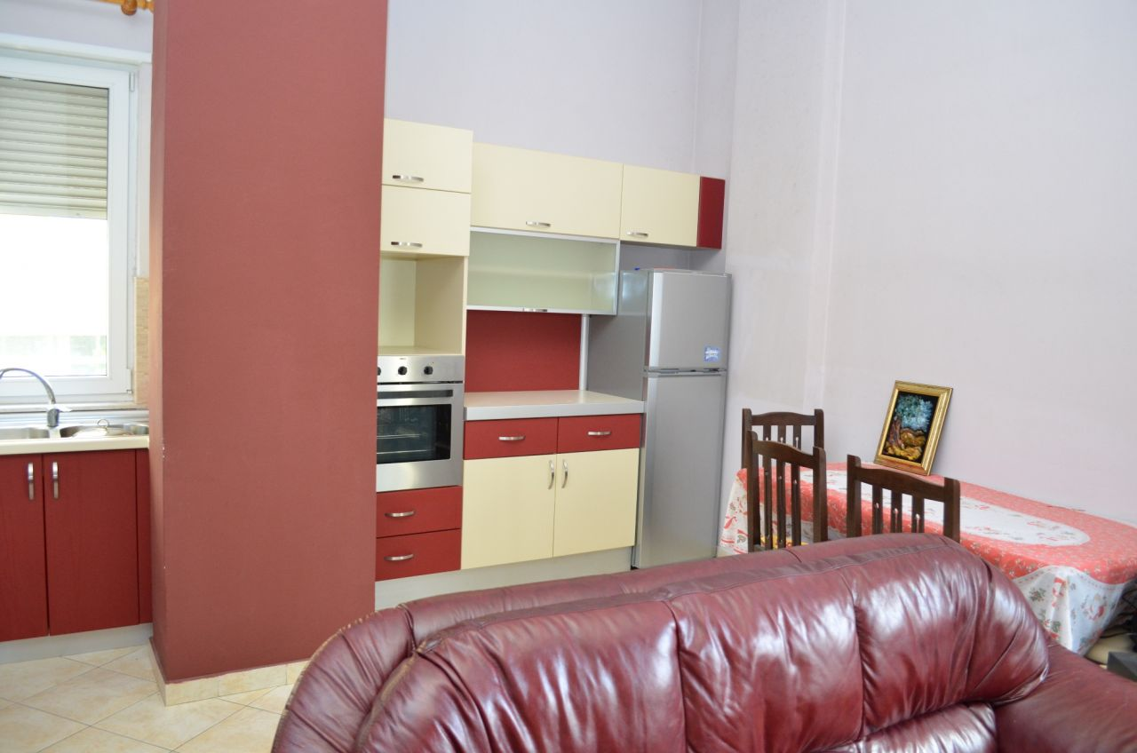 Apartment for rent in Tirana, it has one bedroom and it's all furnished.