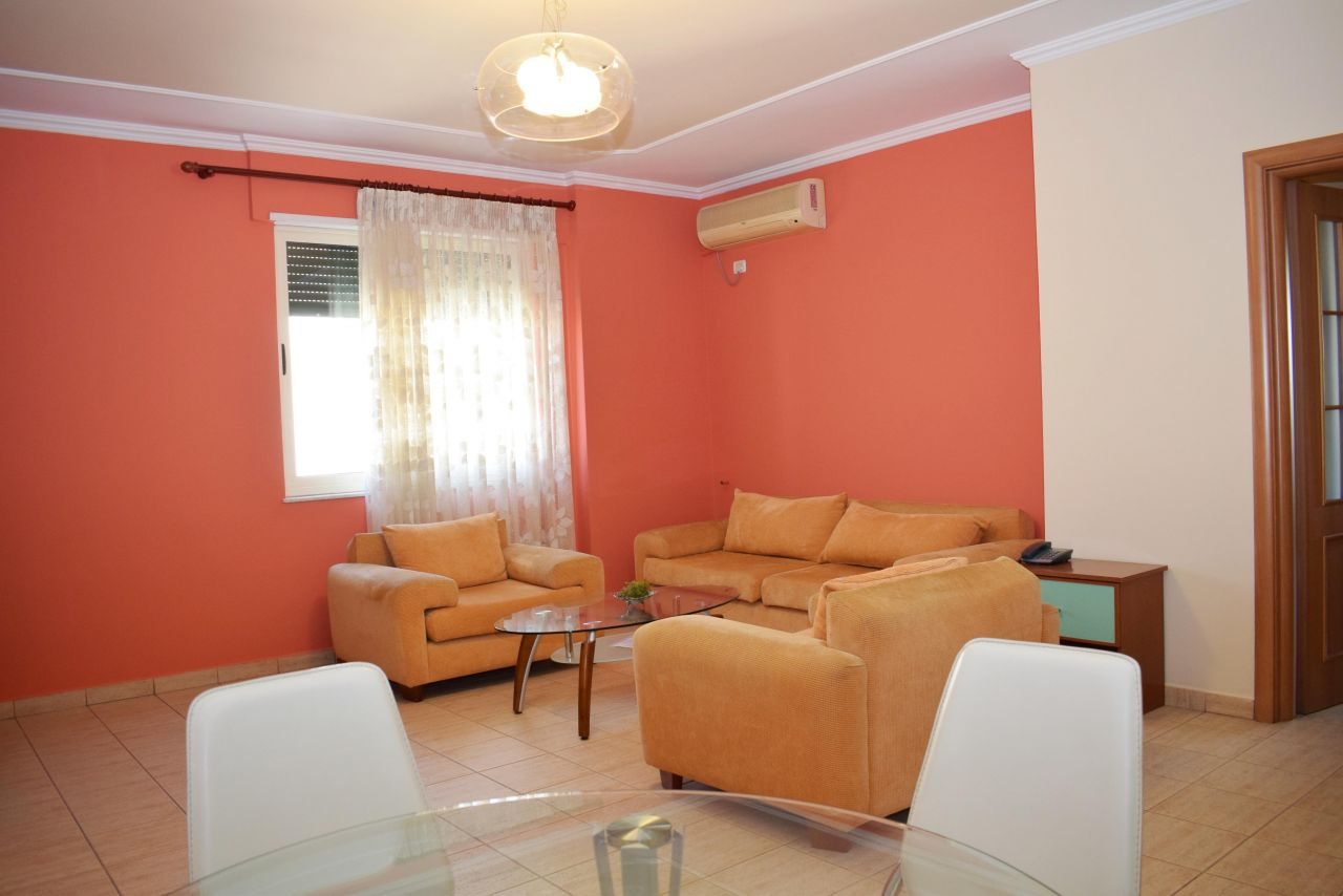 Apartment for rent in the city of Tirana, located very close to the center.