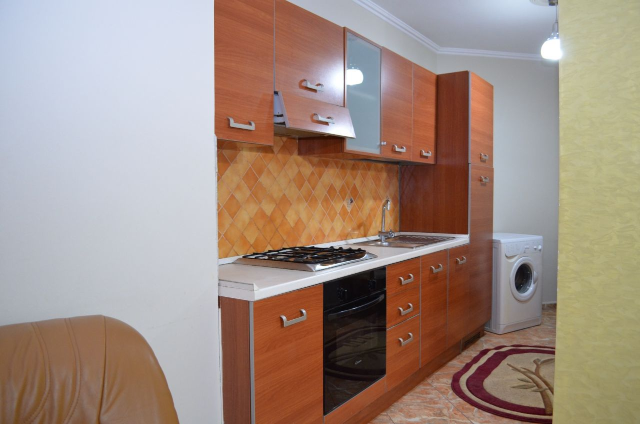 Apartment for Rent near Kavaja Street in Tirana, Albania. The apartment has one bedroom.