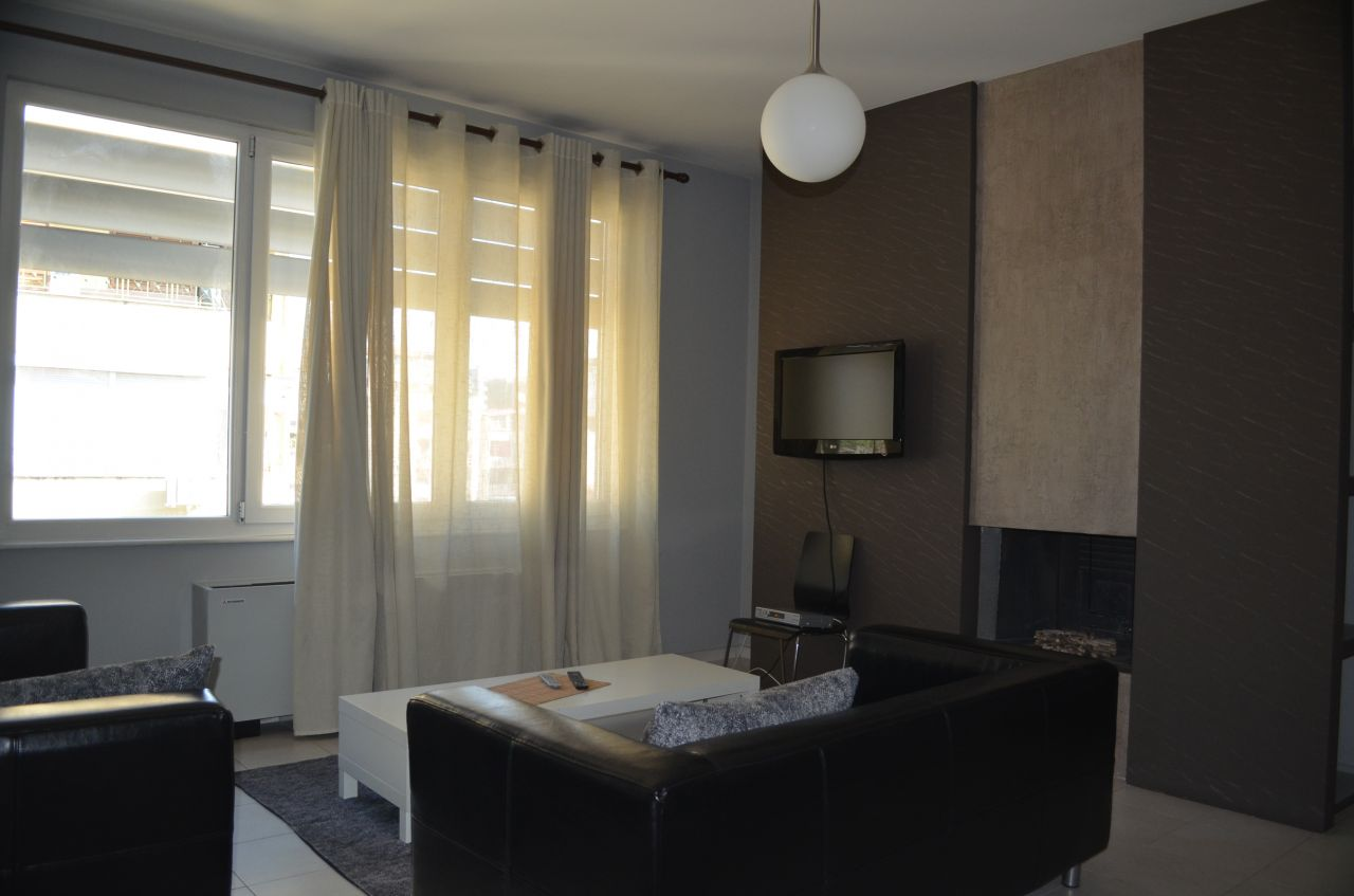 Beautiful apartment for rent in Tirana, in the Bllok area.