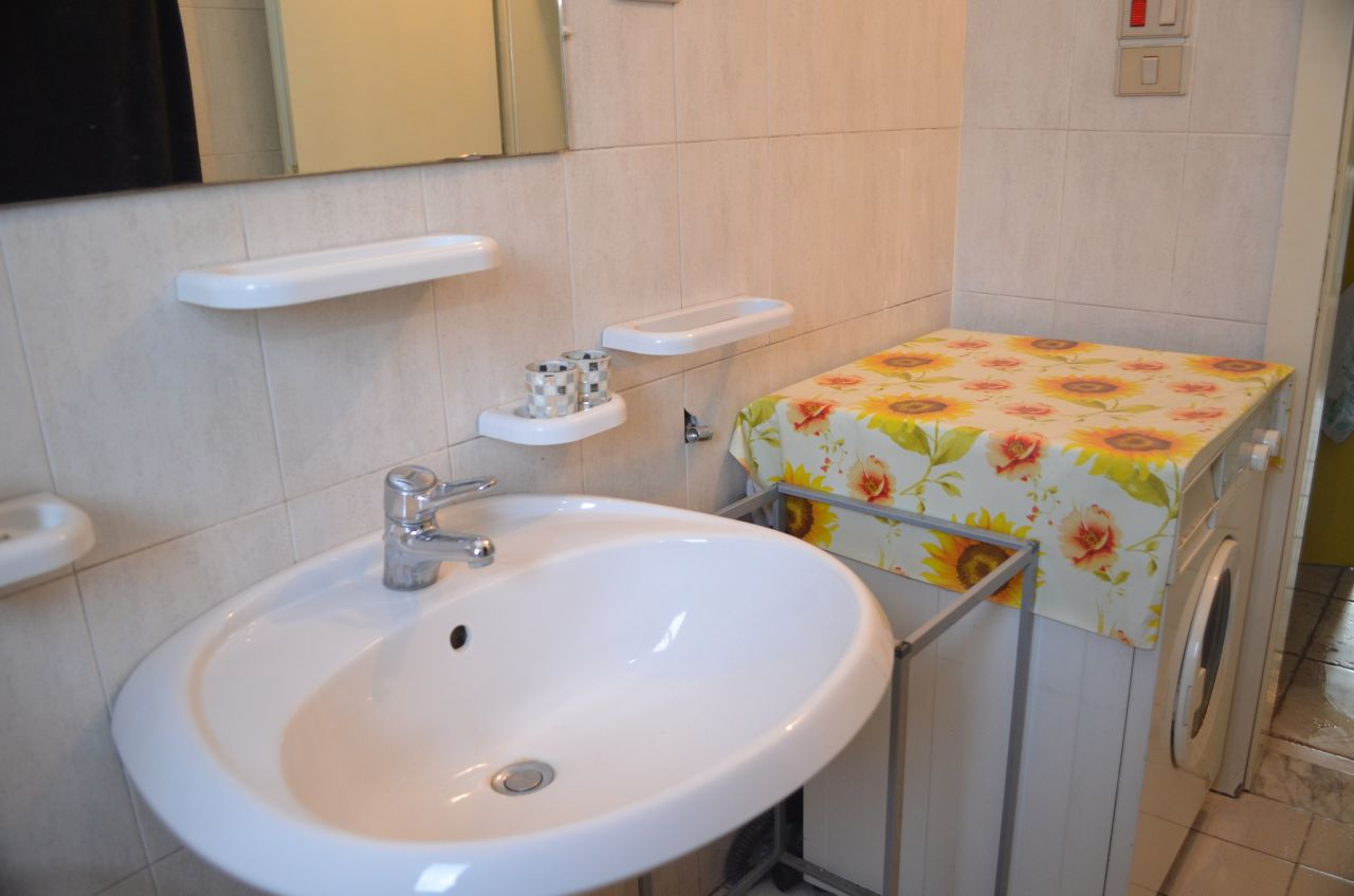 A fully furnished apartment for rent in Tirana, Albania.
