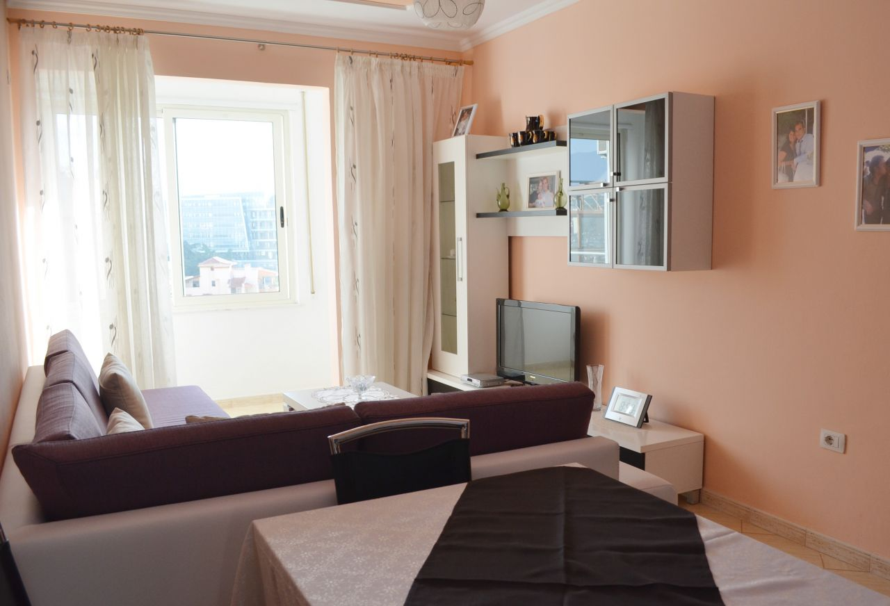 Rent apartment in Tirana one bedroom close to Tirana city center and with new furniture and equipments