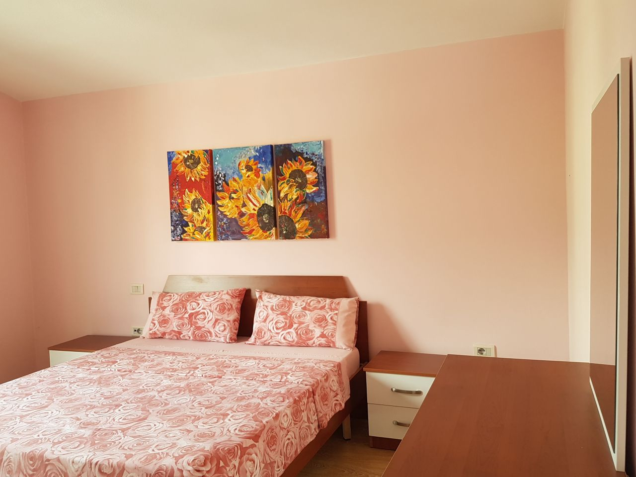 Two bedroom apartment for rent in Tirana within 10 minutes drive from Tirana center.