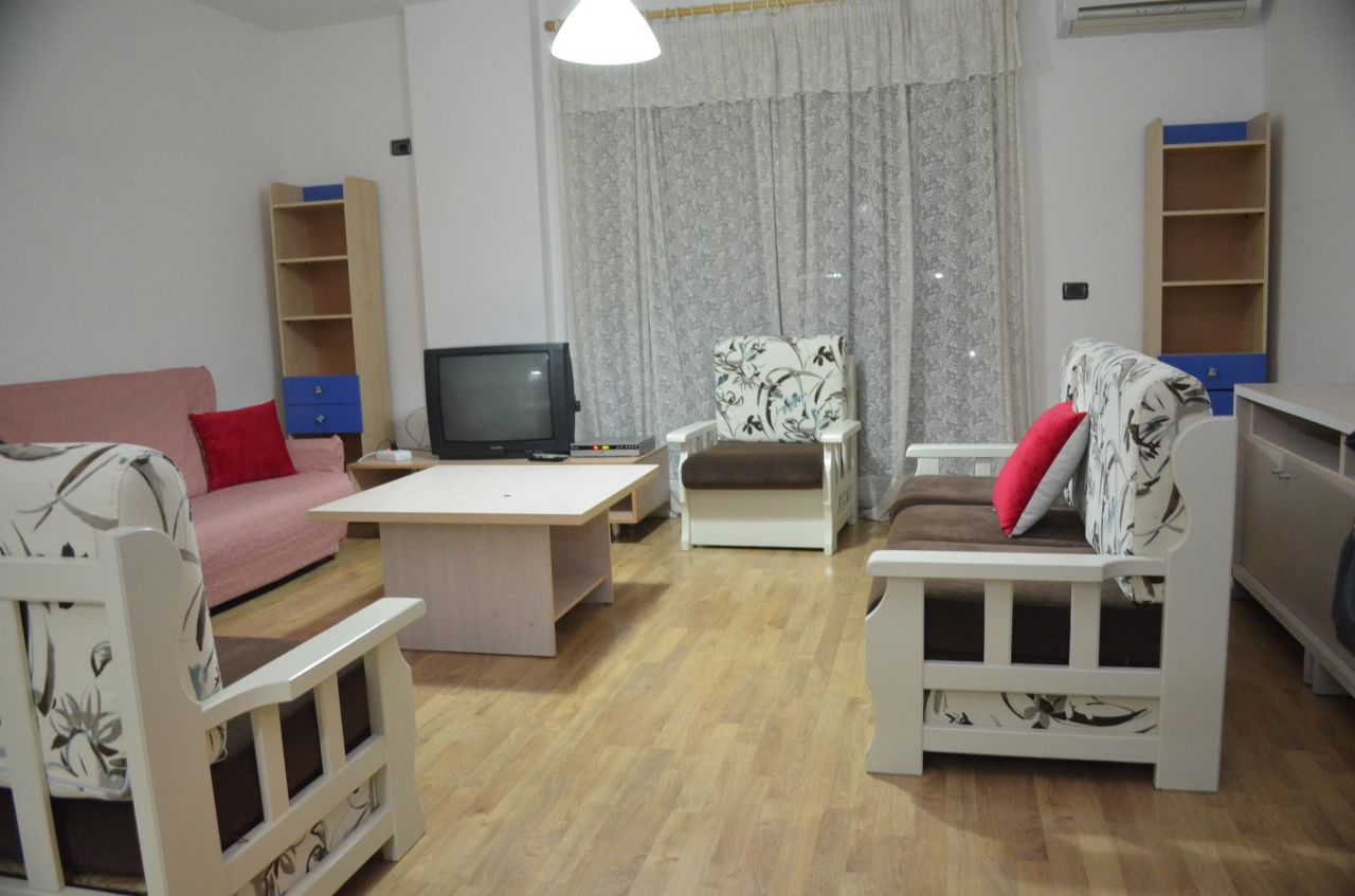 Flat for rent in the center of Tirana, Albanian capital.