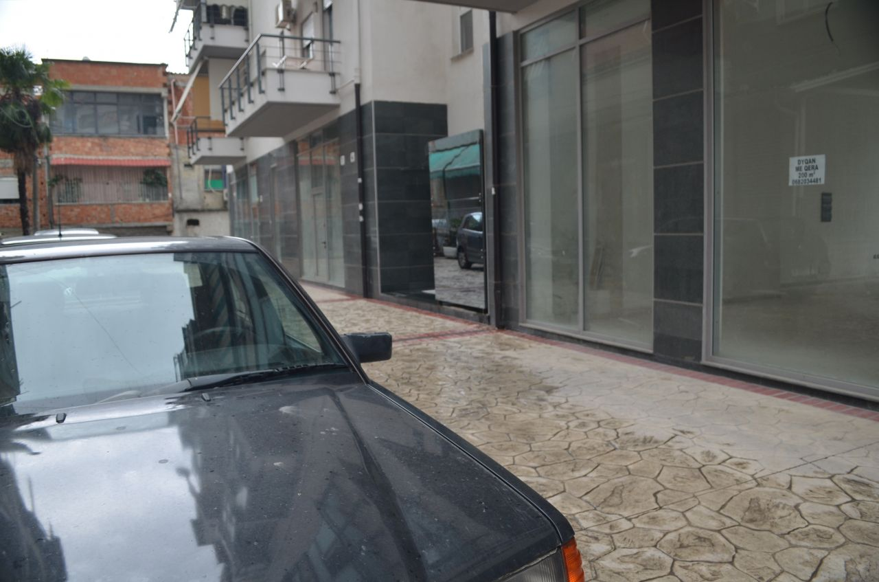 Commercial area for rent in Tirana, the capital of Albania.