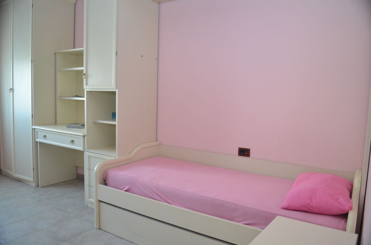 Apartment with two bedrooms for rent in Tirane, Albania.