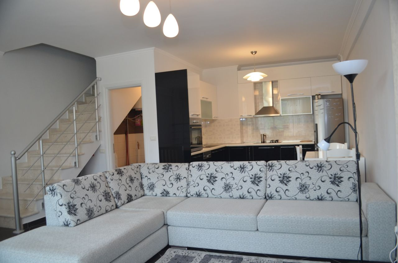 Duplex Apartment Rent in Capital Tirana. Sun Hill Apartments