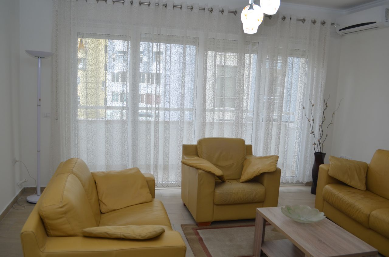 fully furnished spacious apartment for rent in the city of Tirana