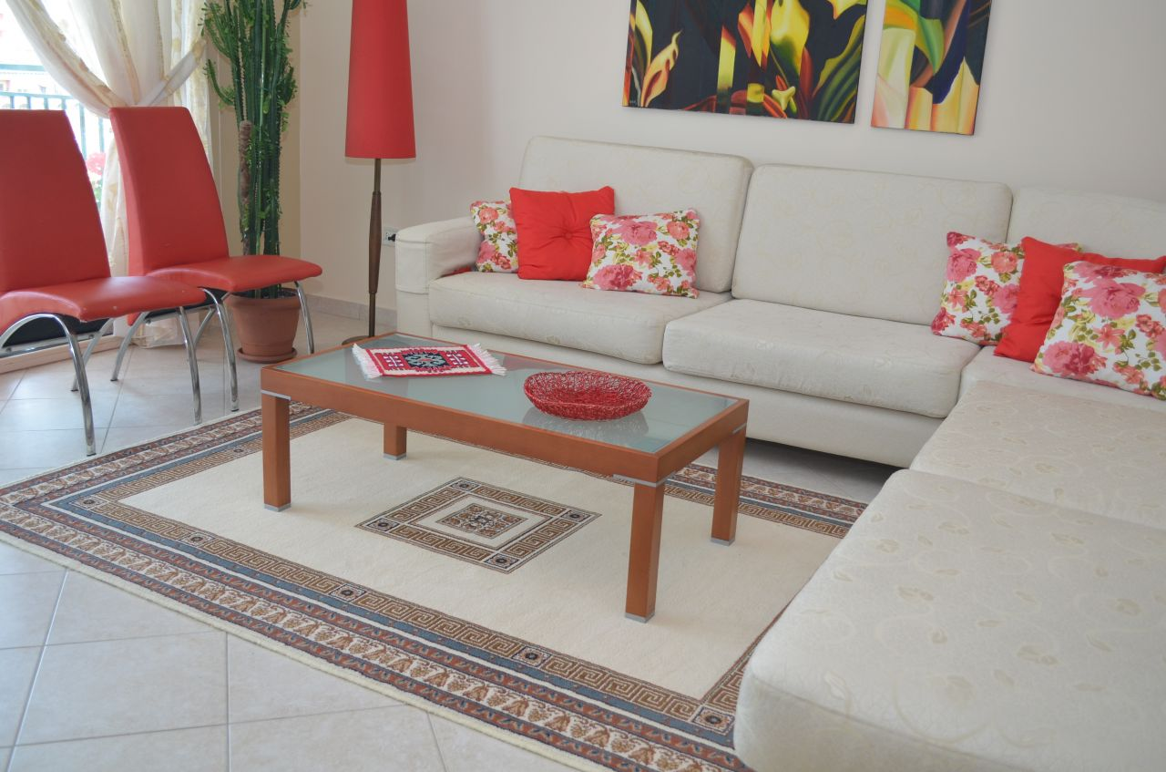 two bedroom apartment for rent in Tirana in Bllok Area
