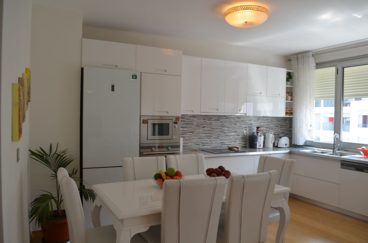 Three bedroom flat for rent in Tirana in a very nice area of the capital city, at Sami Frasheri Street