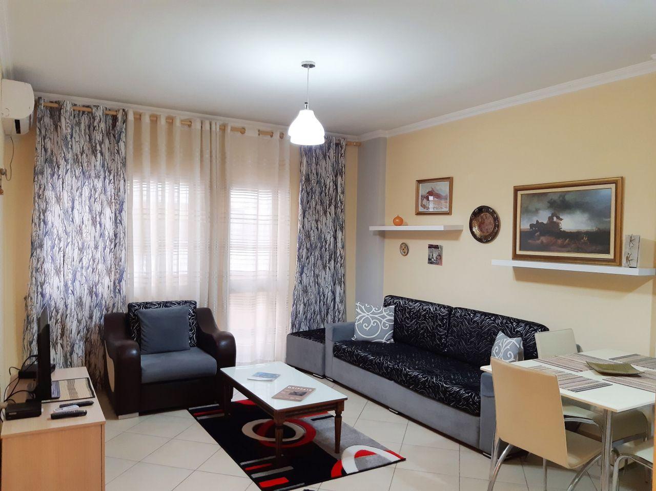 Однокомнатная квартира в аренду в Тиране, Албания, недалеко от центра города